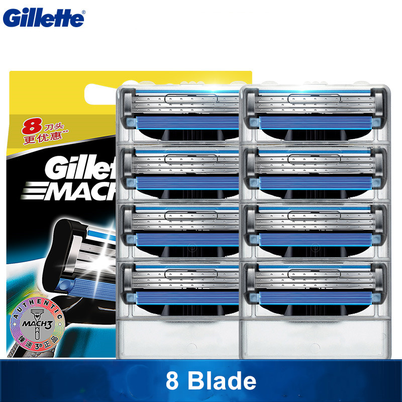 Original Gillette Mach 3 Razor Blades Mach3 Brand For Men Beard Shaved Razor Blade Travel Case Shaving And Hair Removal