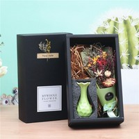 1 Ins Photo Props Colored Dried Flowers Crystal Grass Bouquet Home Wedding Decoration Birthday Gift Lover Gift flower box design