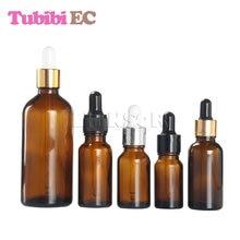 50pcs/lot 5ml 10ml 15ml 20ml 30ml 50ml 100ml Wholesale Amber Glass Essential Oil Doterra Vials Dropper Liquid  Pipette Bottles clinique 5ml 15ml