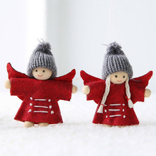 Dolls Angel Christmas-Decorations Hanging Xmas Santa-Claus New Year for 2pc