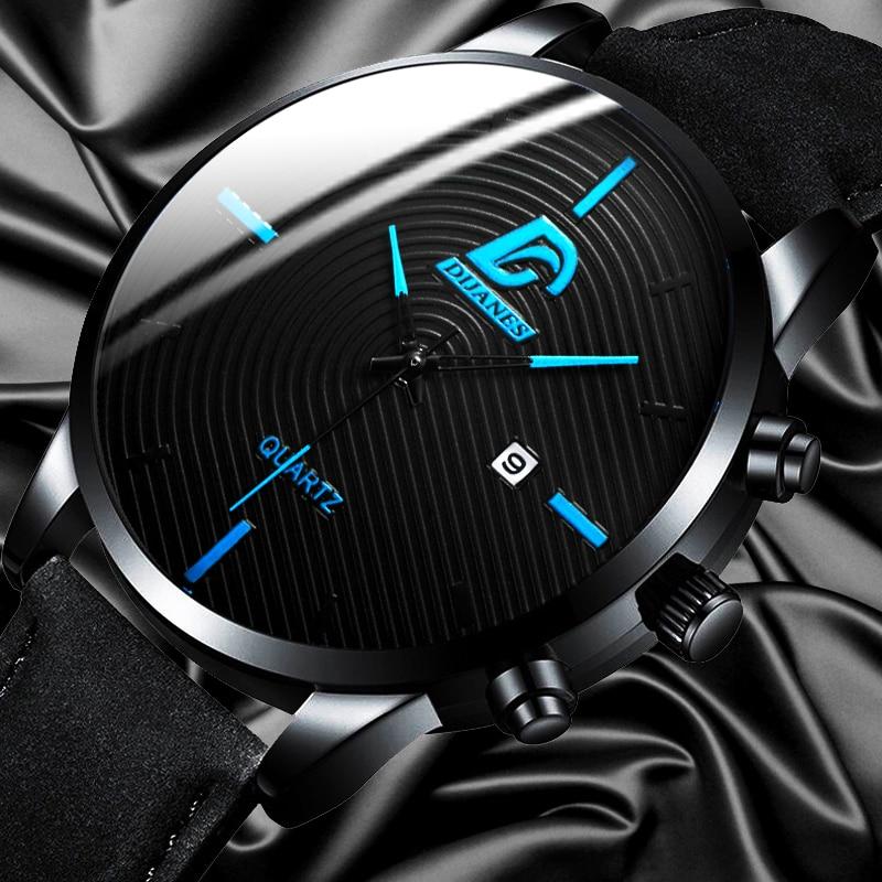 DIJANES Fashion Watch Men Military Sport Leather Quartz Wrist Watches For Men Casual Date Calendar Clock Relogio Masculino
