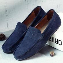Shoes Men Flats Loafers Spring Genuine-Leather High-Quality Summer DEKABR Brand Lightweight