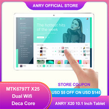 ANRY 64GB ROM Android 8,1 tablet 10 zoll 1920*1200 IPS 8000mAh Große batterie 4G Lte anruf WIFI HD Tablet Pc Deca Core