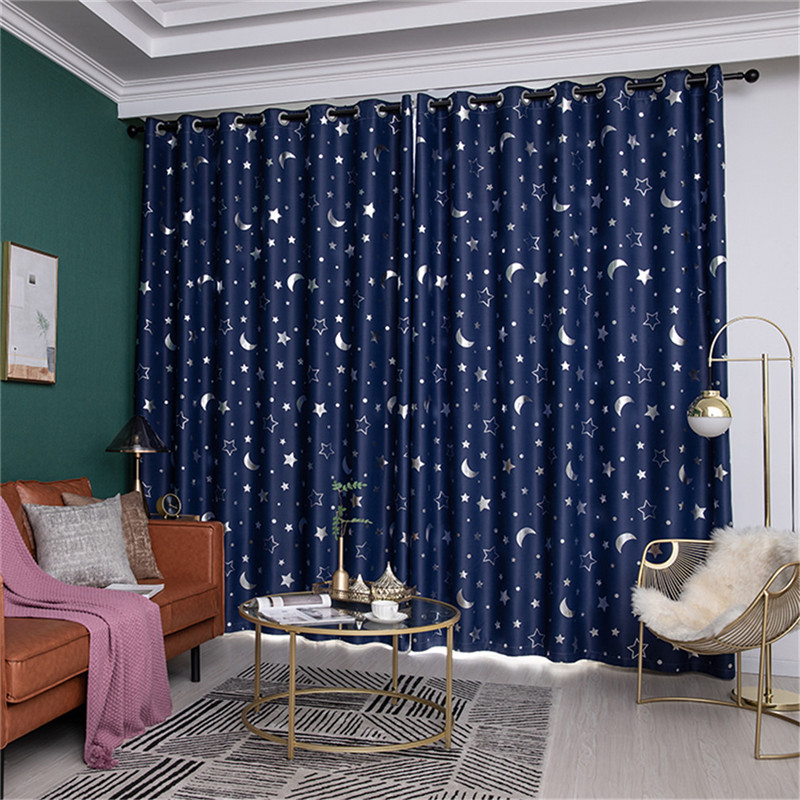 100*250 Kids Room Curtain Fashion Panel Star Curtains Blackout Curtains For Bedroom Living Room Curtain