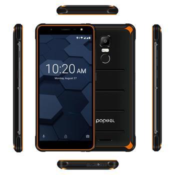 Купить 2020 Poptel P10 разблокирован смартфон повышенной прочности 5,5 дюймов 8-ядерный 4 Гб + 64 Гб 3600 мАч NFC Горячая распродажа! смартфон нарядный костюм/бла...