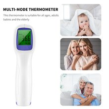 Non-Contact Forehead-Thermometer Digital Infrared Adult Kid EW-02 Three-Color-Backlight
