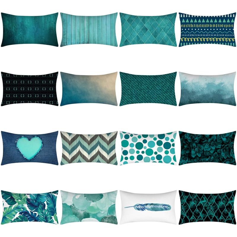 Mint Green Blue Cushion Cover Nordic Geometric Throw Pillow Case Home Sofa Decor