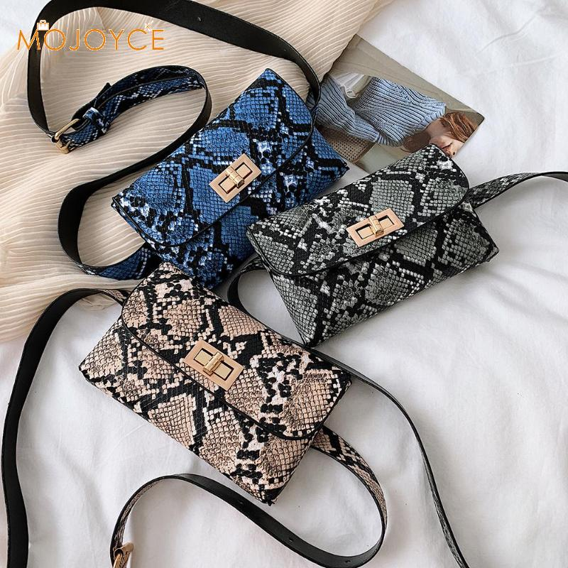 Fanny Pack Women Belt Bag Leather Waist Bag Fashion Snake Print Women Shoulder Leather Chest Bags Crosssbody Waist Fanny Packs