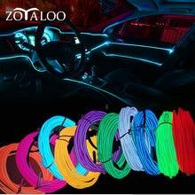 車のインテリア照明1メートル/3メートル/5メートルオートledストリップワイヤーロープチューブライン柔軟なネオン車のドアライト12 12v usbシガードライブ