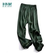 Ночная одежда hnmchief для женщин зеленая пижама ночные штаны