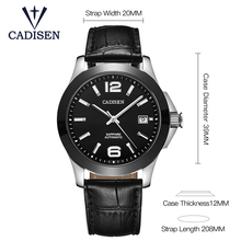 CADISEN Luxury Men's Automatic Mechanical Watch Military Leather Automatic Watch Business Leisure 5ATM Waterproof Luminous C1009