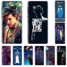 цена на Tardis Box Doctor Who TARDIS Soft Silicone Black Phone Case For Samsung S6 S7 edge S8 S9 S10 e plus A10 A50 A70 note8 J7 2017