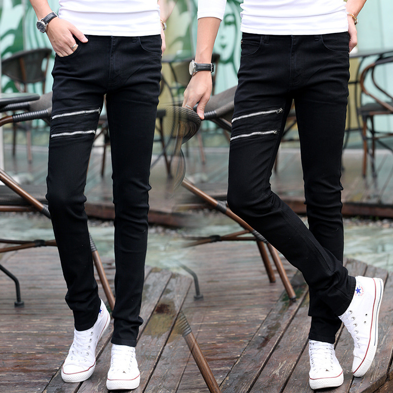Spring MEN'S Jeans Micro Elastic Korean-style Slim Women's Skinny Pants Men's Slimming Trousers 808