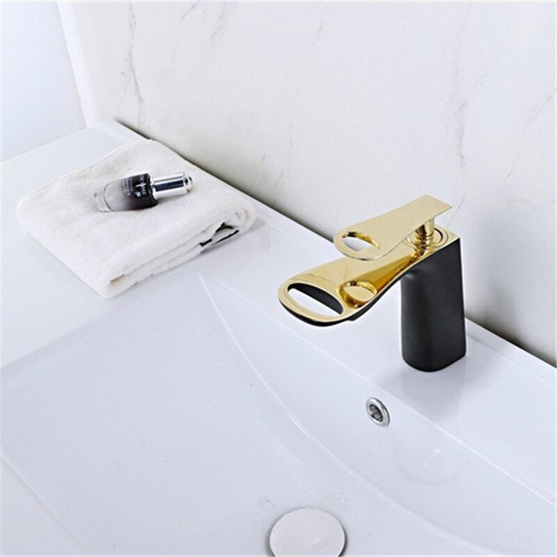LIUYUE bassin robinet salle de bain bas nouveau Style salle de bain évier cuivre robinet mitigeur/trou robinet bassin robinets cascade mélangeur