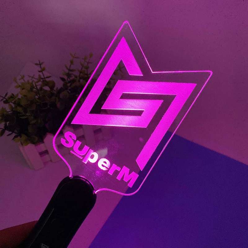 Kpop SuperM Light Stick Hand-held Concert Support Lightstick Fashion K-pop SuperM Night Lamp Fans Collection Gifts