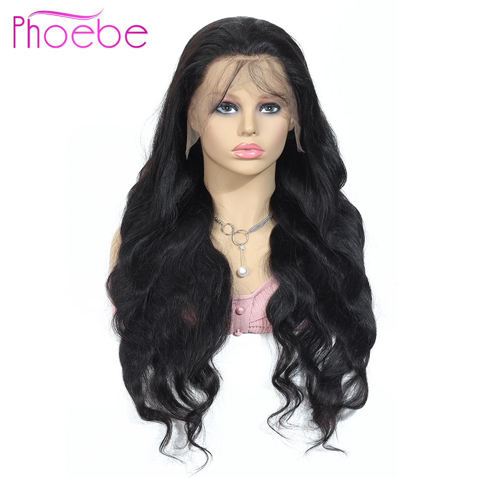 Phoebe 13x4 Lace Front Human Hair Wigs Pre Plucked Wigs For Black Women 150% Non-Remy Brazilian Body Wave 13x6 Lace Front Wig