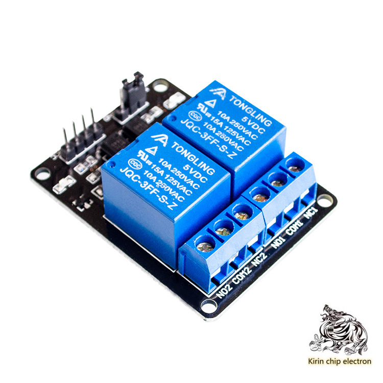 5PCS/LOT 2-way Relay Module 5V With Optical Coupler Protection Relay Expansion Board MCU Development Board Accessories