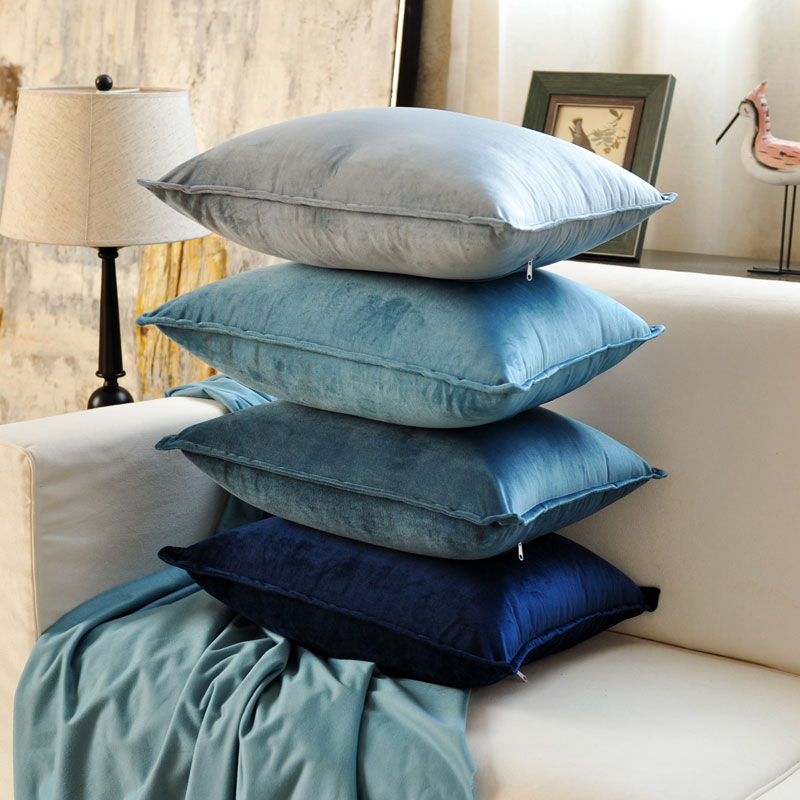 Blue Classic Fashion Pink High Quality Thicken Velvet Cushion Cover Pillow Cover Pillowcase Home Decorative Sofa Throw Pillows