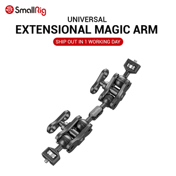 """SmallRig, doble cámara de aluminio, brazo mágico articulado, barra de extensión mágicos para brazos (tornillos de 1/4 """"), soporte de Monitor DSLR"""