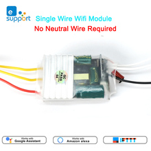 eWeLink Single Live Wire wifi Module 1/2/3gang RF433mhz Switch No Neutral Wire Required MINI DIY Switch Voice control by Alexa