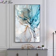 Poster Print Picture Painting-On Living-Room-Decor Wall-Art Marble-Pattern Canvas Colorful