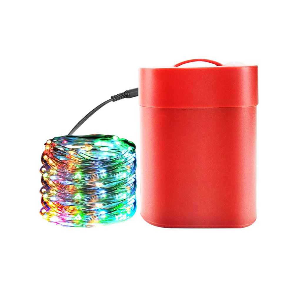 Christmas Supplies Ornaments Lights Physical Battery Colorful String Lights Wedding Party Atmosphere Decoration Lights 10m