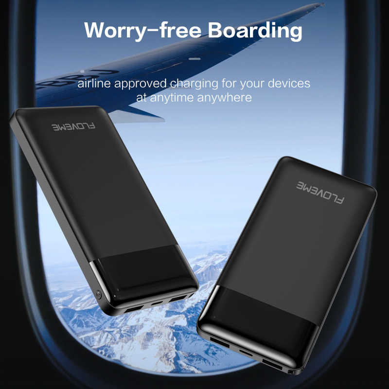 FLOVEME Banca di Potere 10000mAh Display A LED di Ricarica Portatile PowerBank Dual Porte USB Batteria Esterna del Caricatore Per Xiaomi iPhone