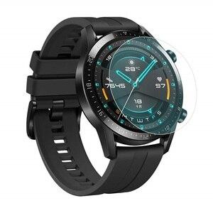 Image 3 - Vskey 100個強化ガラスhuawei社腕時計gt 2 46ミリメートルスクリーンプロテクターラウンドスポーツスマートウォッチD38.5mm保護フィルム