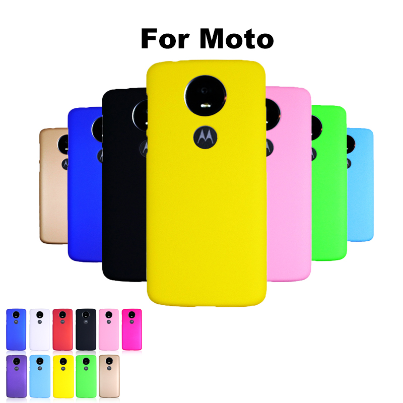 Cute Candy Color Plastic Shockproof Case For Moto One Vision P40 G7 POWER P30 E5 G6 Z3 Z2 Play Plus Hard Matte Back Case Cover