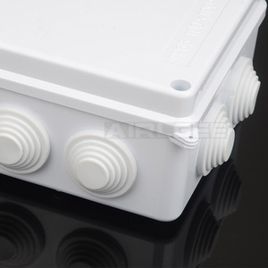 Image 5 - סיטונאי ABS פלסטיק IP65 עמיד למים צומת תיבת DIY חיצוני חשמל חיבור תיבת כבל סניף תיבת 200x100x70mm