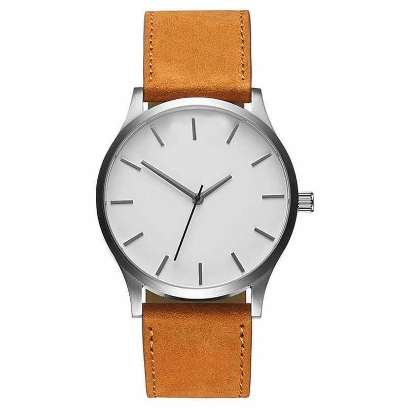Reloj deportivo de cuero para hombre de cuarzo militar de esfera grande de alta calidad reloj de pulsera montre homme horloges vrouwen