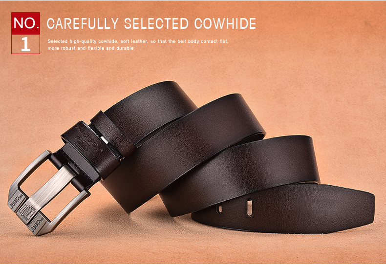 Hc13403b5cf7d4dc0a57c8db6a811baab1 - JIFANPAUL Men's genuine leather luxury brand belt high quality alloy pin buckle men's business retro youth with jeans new belt