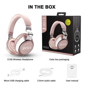 Image 5 - EKSA Orijinal kablosuz kulaklıklar CVC 6.0 Gürültü Iptal Kulaklık 30 H Çalma Süresi Kablolu Bluetooth mikrofonlu kulaklık Pembe