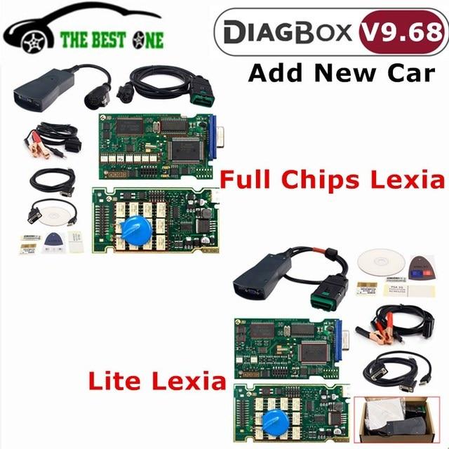 Le plus récent Diagbox V9.68 V8.55 lexia 3 puces complètes AER Lexia 3 921815C Lexia3 PP2000 V48/V25 pour outil de Diagnostic de voiture Citroen/Peugeot