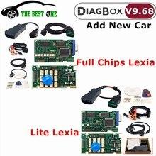 最新diagbox V9.68 V8.55レキシア3フルチップaer Lexia 3 921815C Lexia3 PP2000 V48/V25シトロエン/プジョー車の診断ツール