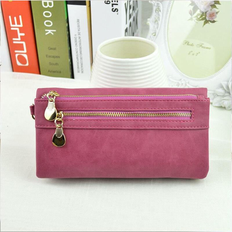 2019 Elegant Women Long Wallet Large Capacity Double Zipper Women Clutch Phone Bag Money Purse Ladies Coin Purse Card Wallet