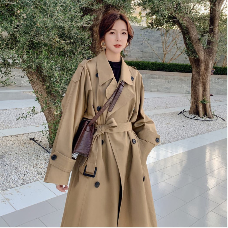 TVVOVVIN Temperament   Trench   Coat For Women Double-breasted Autumn New 2019 Windbreaker Female Fashion Casual Women Clothing C912