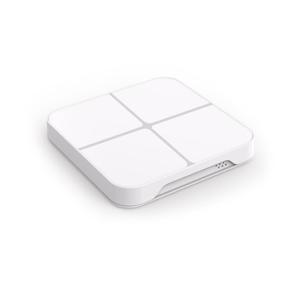 Smart Home Z-Wave Plus Wireless Wall Switch 4 Button 16 Scene Remote Control EU 868.4MHZ Smart Home Automation