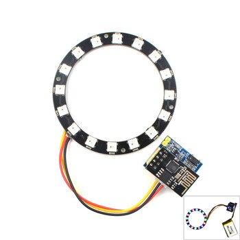 ESP8266 ESP01 ESP-01 RGB LED Controller Adpater WIFI Module for Arduino IDE WS2812 WS2812B 5050 16 Bits Light Ring Christmas DIY
