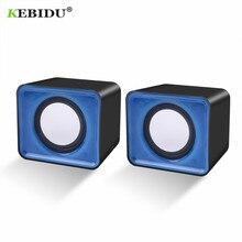 KEBIDU 미니 USB 2.0 스피커 음악 스테레오 컴퓨터 데스크탑 PC 노트북 노트북 홈 시어터 파티 휴대용 스피커