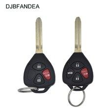 Djbfandea 3 botão/4 botão do carro remoto chave para toyota camry avalon corolla matriz rav4 venza yaris hyq12bby 314.4 mhz id67 chip