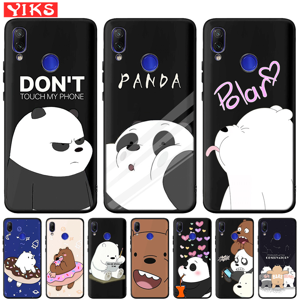 Lovely Panda <font><b>Silicone</b></font> Phone Case For Redmi 5 Plus 6 Pro 4X 6 6A 7 7A Note 6 7 Pro 5 For <font><b>Mi</b></font> <font><b>A2</b></font> Lite 5X 6X 9t Pocophone F1 Coque image