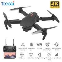 Teeggi-Dron plegable con WiFi y cámara HD. M73, Drone cuadricóptero con cámara HD de 480P/4K, juguete Dron VS E68 E61 SG106 XS816