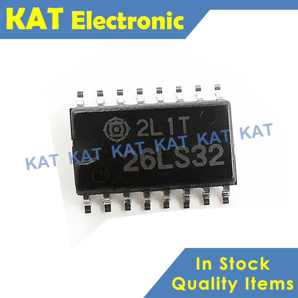 5PCS/Lot HD26LS32FPEL 26LS32 SOP-16 Quadruple Differential Line Drivers With 3 State Outputs