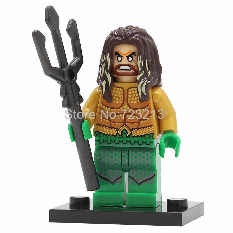 Único Super Herói Figura Assassino Do Aquaman Mera Irmão Luther Superman Mulher Maravilha Olho Conjunto de Blocos de Construção Tijolos Brinquedos Legoing