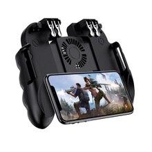 Gamepad Controller Trigger dispositivo di Raffreddamento Ventola Di Raffreddamento Fuoco PUBG Mobile Controller di Gioco Joystick Metallo L1 R1 Trigger Gioco Accessorio