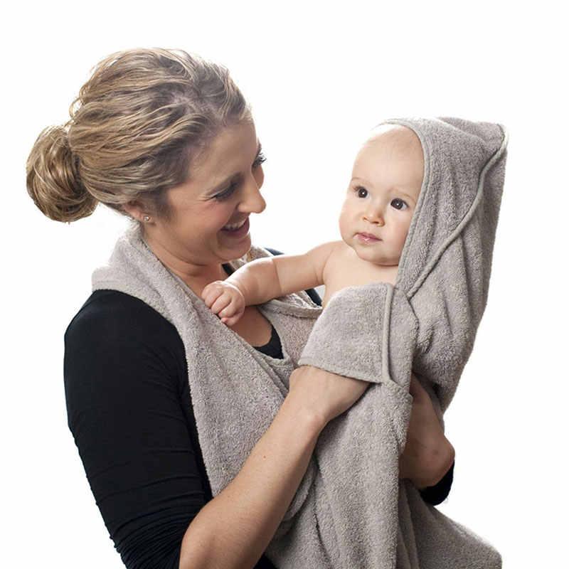 Czesana bawełna ręcznik kąpielowy z kapturem fartuch dziecięcy koc wysokiej jakości ręcznik niemowlęcy chłonny ręcznik kąpielowy z kapturem dla dzieci