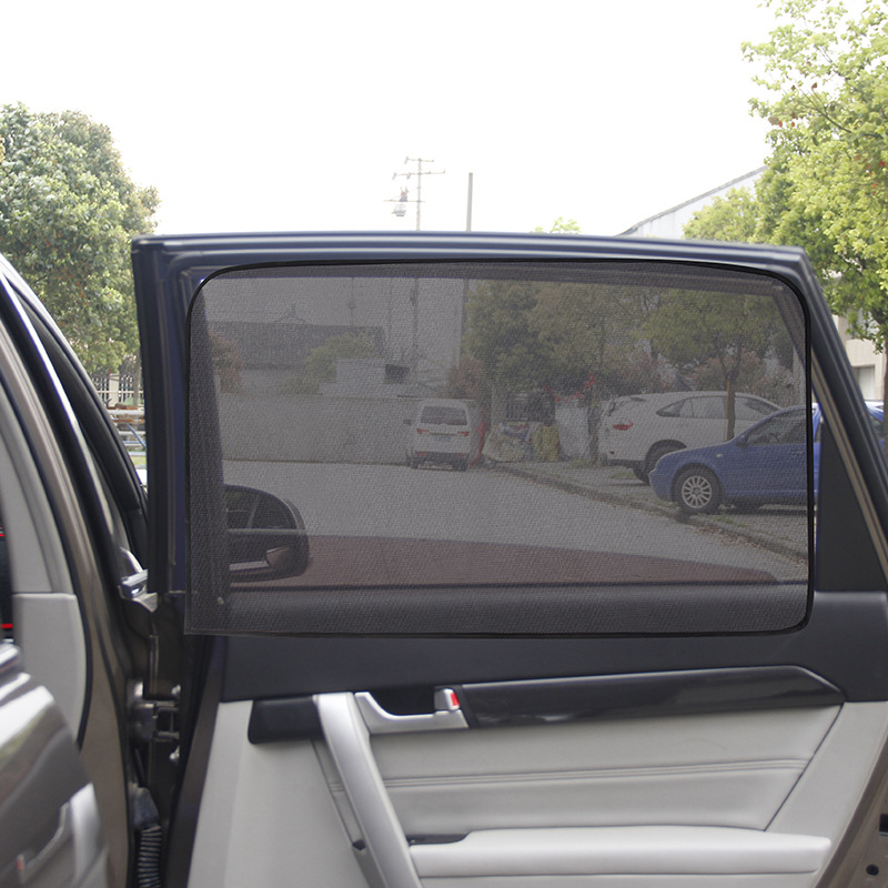 Black Magnetic Car Sun Shade UV Protection Car Curtain Car Window Sunshade Side Window Mesh Sun Visor Summer Protection Window