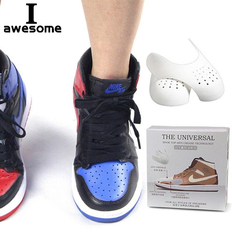 Bouclier de chaussures pour baskets, Anti-pli et fissure, Support d'orteils, civière de tête, garde-chaussures de Sport, livraison directe