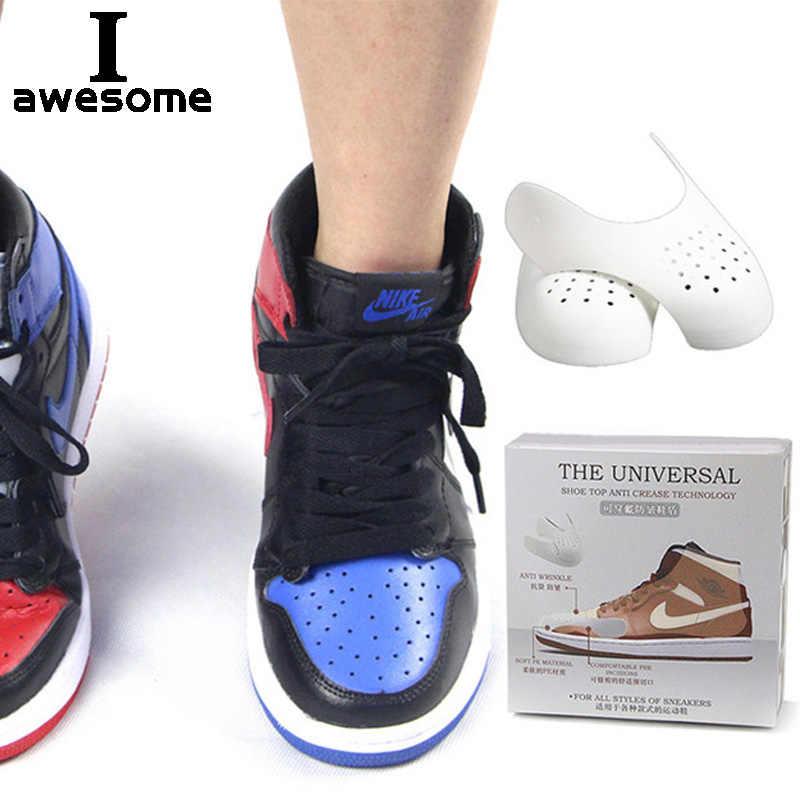 Dropshipping ayakkabı kalkanlar spor ayakkabı için Anti kırışıklık buruşuk çatlak ayakkabı desteği ayakkabı burnu spor ayakkabı kafa sedye Shaper kaleci